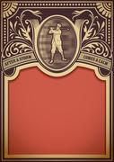 Golf retro card. Organized by layers Stock Illustration