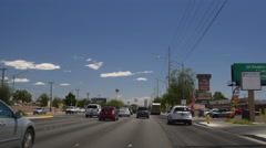 Summer day las vegas road trip street view panorama 4k usa Stock Footage