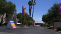 Summer day las vegas road trip street side view 4k usa Stock Footage