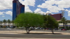 Summer day las vegas road trip street view panorama 4k usa Stock Footage