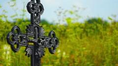 Grave Cross cemetery Stock Footage