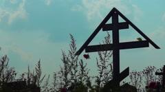 Cross Churchyard Stock Footage