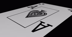 Ace of spades playing card in rotation Stock Footage