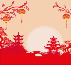 Mid-Autumn Festival for Chinese New Year Stock Illustration