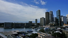 Australia Sydney skyline with cloud time lapse Stock Footage