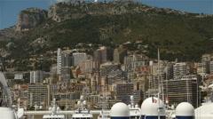Skyline at Monaco, Cote D'Azur France Stock Footage