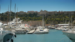 Port of Monaco, Cote D'Azur France Stock Footage