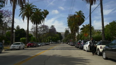 Los angeles city summer day road trip street view panorama 4k usa Stock Footage
