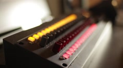 Recording Studio - in the Control Room Stock Footage