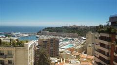 Bay at Monaco, Cote D'Azur France Stock Footage