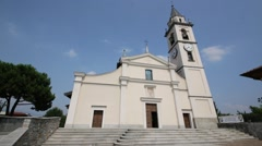 In italy   religion  building    for catholic Stock Footage