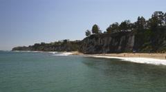 Los angeles famous malibu beach pier view panorama 4k usa Stock Footage