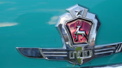 The logo of unicum from an old russian car Stock Footage