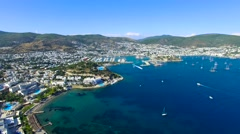 Bodrum Turkey Aerial View Stock Footage