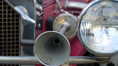 The horn part of the old car Stock Footage