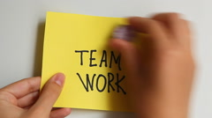 Team work words as a business concept Stock Footage