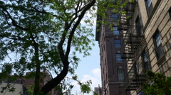 New york brooklyn heights apartment street view panorama 4k usa Stock Footage