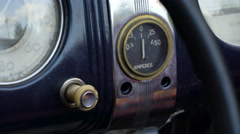 Closer look of the old dashboard of the car Stock Footage