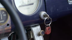 Detials of the old dashboard of the car Stock Footage