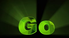 Green Go Animation Stock Footage