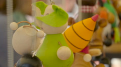 Spring toys being displayed on the stall Stock Footage