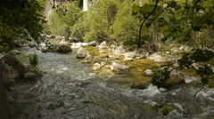Wild water at Cote D'Azur, South France Stock Footage