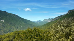 Mountains of Pre Alpes in South France Stock Footage