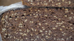 The seeds from the brown bread Stock Footage
