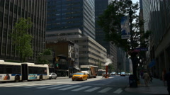 New york summer day manhattan street traffic panorama 4k usa Stock Footage