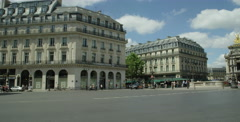 National Academy of Music in Paris France - outdoor establishing shot Stock Footage