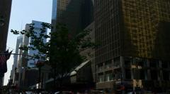 New york summer day manhattan street traffic panorama 4k usa Stock Footage