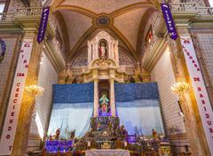 Altar Creche Christmas Parroquia Dolores Hidalalgo Mexico - stock photo