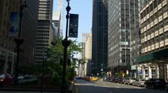 New york summer day manhattan park ave traffic panorama 4k usa Stock Footage