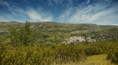Plateau Col de Vence in Pre Alpes in South France Stock Footage