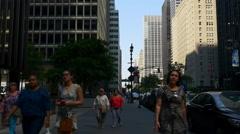 New york summer day manhattan street crowded panorama 4k usa Stock Footage
