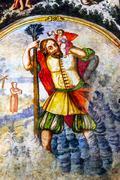 Spanish Explorter Angel Fresco Sanctuary of Jesus Atotonilco Mexico Stock Photos
