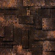 rusty fix wall. grunge metal background. - stock illustration