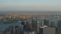 Freedom tower one world observatory manhattan brooklyn panorama 4k usa Stock Footage