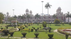 Lucknow railway station and park,Lucknow,India Stock Footage