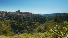Landscape at Col de Vence in South France Stock Footage