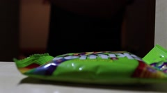 Take Candies From The Wardrobe - stock footage