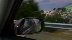 Day san francisco road trip highway side mirror panorama 4k usa Stock Footage
