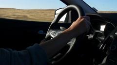 San francisco summer day bay road trip driver hands panorama 4k usa Stock Footage