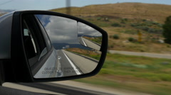 California summer day road trip side mirror view panorama 4k usa Stock Footage