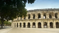 Roman Arena, Nimes France Stock Footage