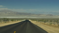 Summer day road trip highway death valley view panorama 4k usa Stock Footage