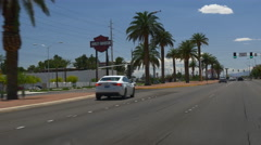 Summer day las vegas street view road trip panorama 4k usa Stock Footage