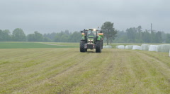 The agriliming truck running on the field Stock Footage