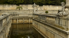 Jardin des Fontains, Nimes France Stock Footage