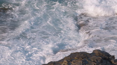 Rough Waves in Malta Stock Footage